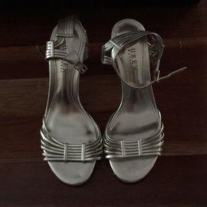 Matte gold heels by Ralph Lauren NWOT